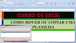 Curso de Excel Como mover ou copiar planilha para outra aba mesma pasta ou outra pasta com formato