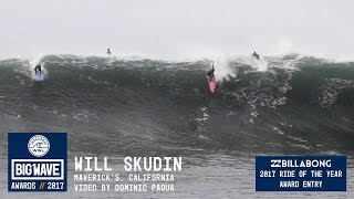 Will Skudin at Maverick's - 2017 Billabong Ride of the Year Entry - WSL Big Wave Awards