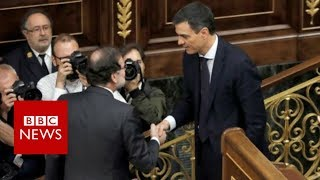 Mariano Rajoy: Spanish PM forced out of office - BBC News