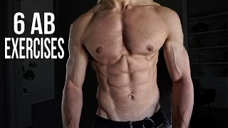 6 AB EXERCISES FOR SIX PACK ABS AT HOME 2016 (Men & Women)
