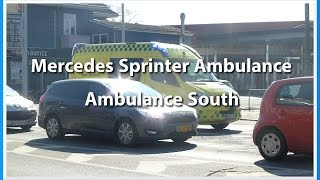 Mercedes Sprinter Ambulance | Ambulance South (Odense) | Responding on busy road