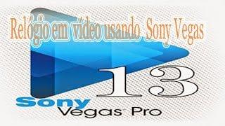 Como colocar  Relógio em  vídeo usando  Sony Vegas