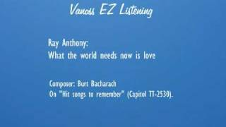 What the world needs now is love (audio) - Ray Anthony