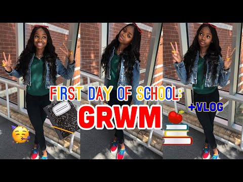 Download Video GRWM: FIRST DAY OF SCHOOL (JUNIOR YEAR) + VLOG!!