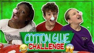 Cotton Glue Challenge - Sfida di nasi con cotone e colla 😂*Appiccicoso*