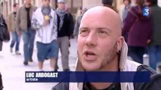 Luc Arbogast, reportage de France 3 dans les rues de Lyon