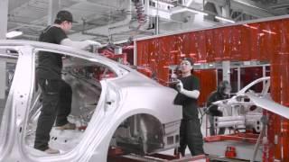 90 second tour around the Tesla Factory