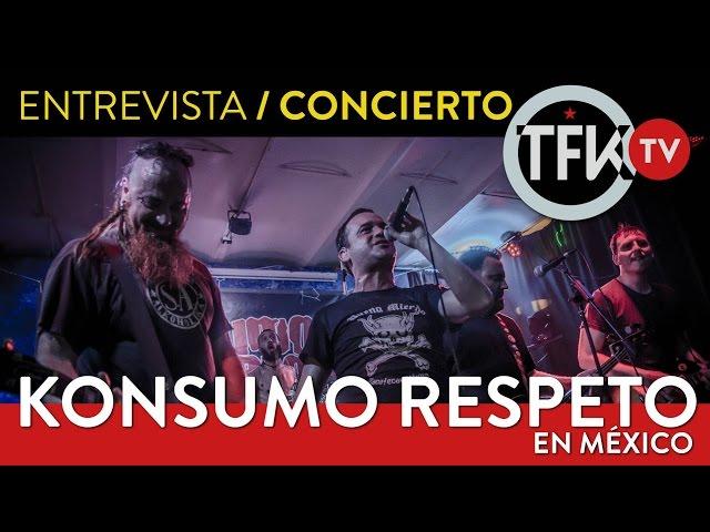 Entrevista / Concierto de Konsumo Respeto en CIUDAD DE MÉXICO el 14 de Abril  2017 en su gira Latinoamericana