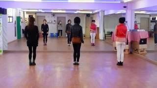 Let's Twist Again - line dance (demo & count)