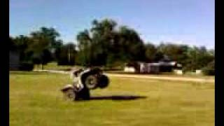 Little brute force 750 wheelie