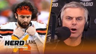 Browns will underachieve next season, Colin predicts where QBs will be drafted | NFL | THE HERD