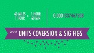 Unit Conversion & Significant Figures: Crash Course Chemistry #2