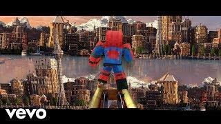 """""""Sunflower"""" Minecraft Music Video - Post Malone, Swae Lee Spider-Man Into the Spider-Verse"""