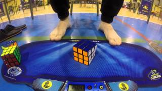 3x3 with feet single WR (25.04 and 20.57)