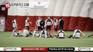 Chicago Fire practice The PrivateBank Fire Pitch