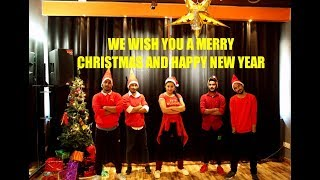 Christmas dance ,Bhangra mix , Easy steps | We wish you a merry Christma and happy new year ,