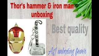 Thor hammer and iron man unboxing and review..