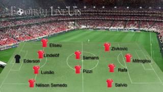 Benfica 3-1 Desportivo de Chaves Liga 2016/2017 - Onze Inicial Benfica