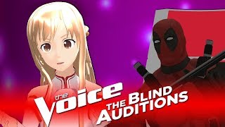 ✪ SAO Asuna - Let Me Love You ✪ Blind Auditions ► The Voice M2L