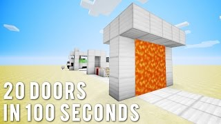 Minecraft: 20 More Doors In 100 Seconds