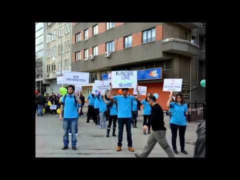 Ege Üniversitesi - Dünya  Biyologlar Günü (16.04.2012) Yürüyüşü - Ankara 15.04.2012.flv