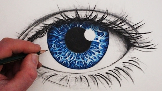 How to Draw a Realistic Eye in Colour