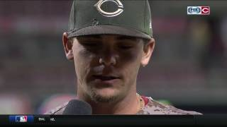 Scooter Gennett after hitting Reds record four home runs in one game