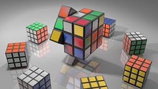 Rubik's Cube 3D Simulation in Blender