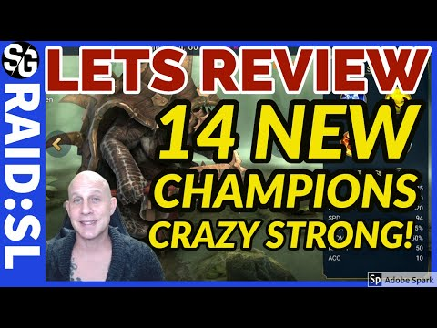 RAID SHADOW LEGENDS | 14 NEW CHAMP REVIEW | SOME POWERFUL CHAMPS