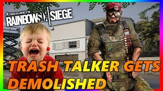 (2v1) Trash Talker gets Demolished!!! w/ Facecam - Rainbow Six Siege || Custom Game
