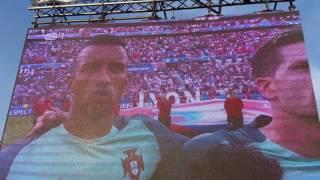 Futbol Park 2016 Portugal 2 - Wales 0 Hino Nacional