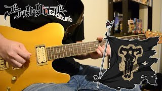 Black Clover OP 4 『Guess Who is Back - Kumi Koda 』{TABS} Guitar Cover ブラッククローバー
