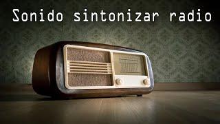 Sonido sintonizar radio - efecto sonido