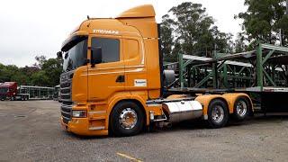 Scania R620 v8 na cegonha