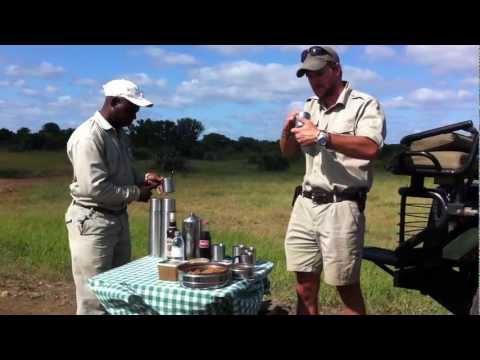 Making Amarula Hot Chocolate on Safari in South Africa