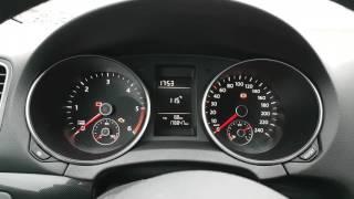 VW Golf VI Indicator celebration, needle sweep, staging. Dashboard without mfa+
