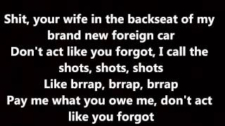 Rihanna - Bitch Better Have My Money (Lyrics on Screen)