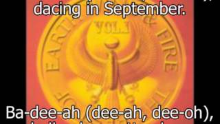 Earth, Wind & Fire - September with lyrics and Italian subtitles.