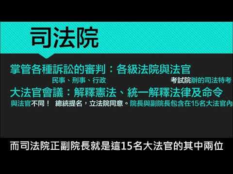 【八上公民】【觀念】司法院 - YouTube