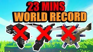 Este Jugador Derrotó TODOS LOS BOSSES De Minecraft En 23 MINUTOS