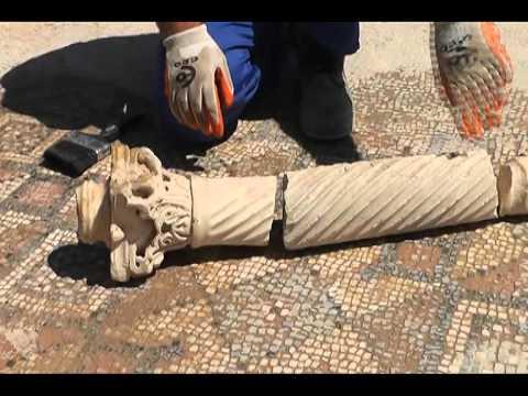Kaçak kazı bazilikayı yok etti