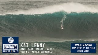 Kai Lenny at Jaws 4 - 2017 Billabong Ride of the Year Entry - WSL Big Wave Awards