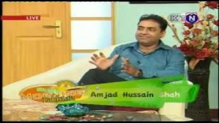 amjad shah live interview on k.t.n (part 1) width=