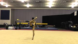 Cindy Lu - Clubs - 2012 Rhythmic Nationals - Sr Day 2