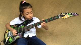 FLYING WITH IBANEZ INDONESIAN GUITAR CHALLENGE 2015 - Ayu Gusfanz (9 Years Old)