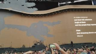 U2 - whole of the moon ( The Waterboys ) Entrance clip. Toronto 2017