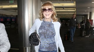 TV Icon And I Dream Of Jeannie Star Barbara Eden At LAX