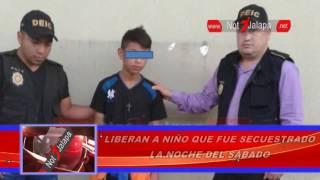 LIBERAN A NIÑO QUE FUE SECUESTRADO LA NOCHE DEL SÁBADO