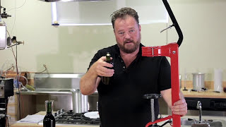 Floor Wine Bottle Corking Machine - by Master Vintner