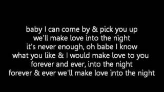 Usher - Making love into the night (lyrics)